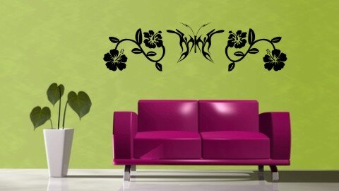 schmetterling wandtattoo tapeten deko. Black Bedroom Furniture Sets. Home Design Ideas