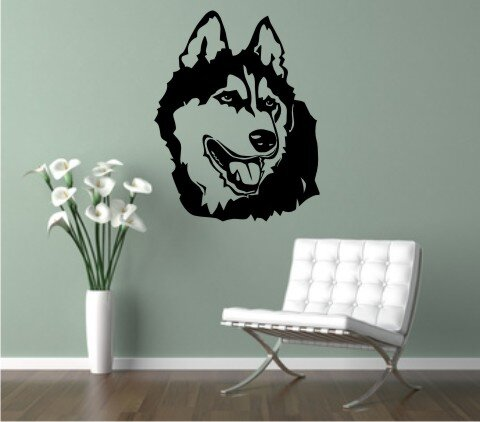 wandtattoo malamute 02 mit dem namen ihres hundes. Black Bedroom Furniture Sets. Home Design Ideas