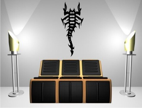 skorpion wandtattoo tapeten deko m 16. Black Bedroom Furniture Sets. Home Design Ideas