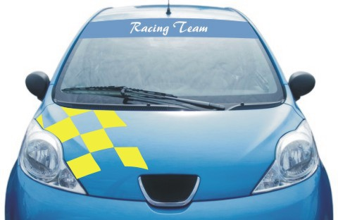 race sticker windscreen
