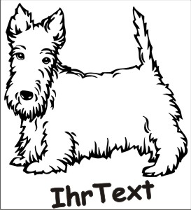 scottish terrier hundeaufkleber
