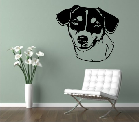 wandtattoo jack russell 01dr hund