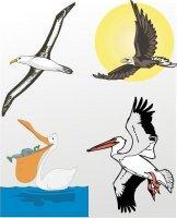 Vogelaufkleber im Digitaldruck