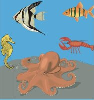 Fischaufkleber im Digitaldruck