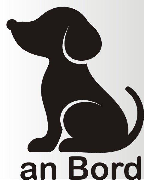 Piktogramm Hund an Bord Aufkleber