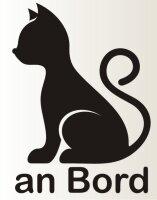Piktogramm Katze an Bord Aufkleber