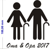 Oma & Opa 2017 Aufkleber Piktogramm