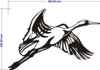Wandtattoo Kranich Wandaufkleber Kranich Vögel
