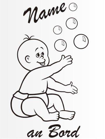 MO5 Personalisierte Babyaufkleber 20 cm Groß ideal als Fahrzeugaufkleber