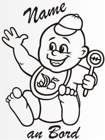 MO23 Personalisierte Babyaufkleber 20 cm Groß ideal als Fahrzeugaufkleber