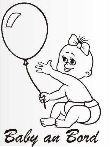 MO64 Personalisierte Babyaufkleber 20 cm Groß ideal als Fahrzeugaufkleber