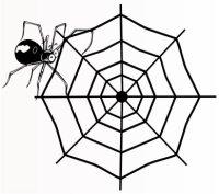 Spinne mit Spinnennetz Aufkleber, Autoaufkleber Spider...