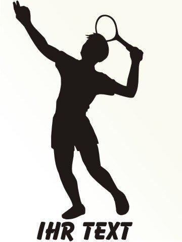 Tennis Aufkleber Autoaufkleber mit Text MO03