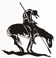 Indianer Aufkleber, Indianer auf Pferd MO01