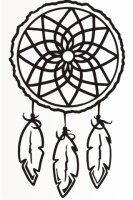 Indianer Aufkleber, Indianerschmuck Traumfänger MO02