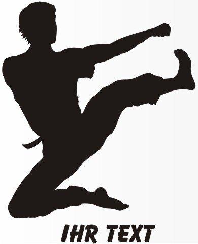Karate Aufkleber Autoaufkleber mit Text MO04