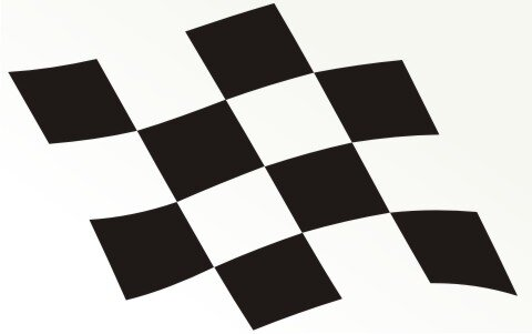Racing Flagge Aufkleber MO16