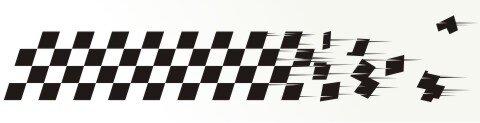 Racing Flagge Aufkleber MO67