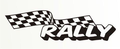 Racing Flagge Aufkleber MO88