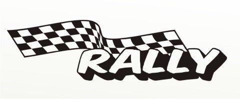Racing Flagge Aufkleber MO84