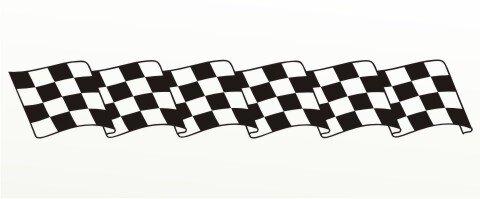 Racing Flagge Aufkleber MO82