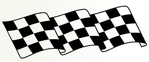 Racing Flagge Aufkleber MO79