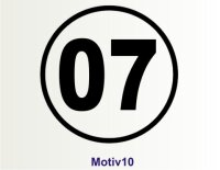 MO10 Startnummer Aufkleber, Rennnummer