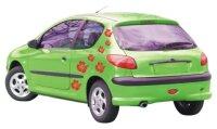 Hibiskus Blumen Aufkleber 4-Set, Hibiskusaufkleber