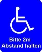 Rollstuhlfahrer Aufkleber, Behinderter Autoaufkleber...