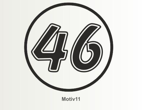 MO11 Startnummer Aufkleber, Rennnummer