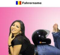 Helm Aufkleber mit Rumänien Flagge und mit Ihrem...