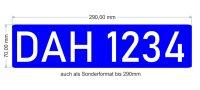 Mietwagen Ordnungsnummer für Heckscheibe,...