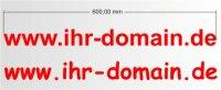Domainaufkleber selbst gestalten, Webaufkleber...