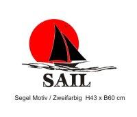 Segel, Sail Wandtattoo Zweifarbig