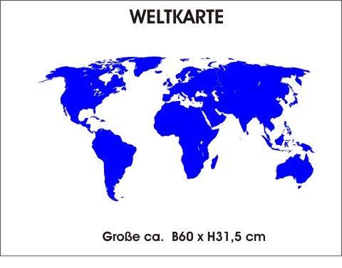 Weltkarte wandtattoo tapeten deko wanddeko for Weltkarte deko