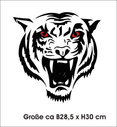 Wandtattoo Tiger Tapeten Deko, Tiger Wanddeko MO02