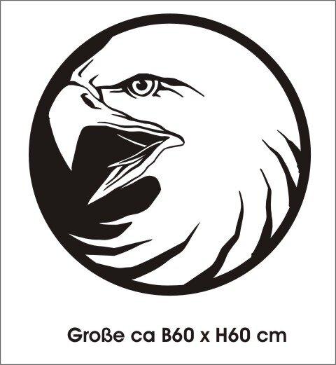 Adler Wandtattoo Tapeten Deko, Wanddeko MO04