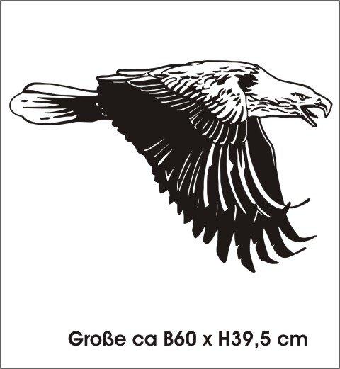 Adler Wandtattoo Tapeten Deko, Wanddeko MO02