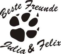 Hundeaufkleber Beste Freunde mit Ihrem und Name Ihres Hundes