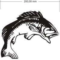 Fisch Aufkleber Angeln Angelsport
