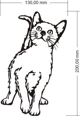 Katzen Aufkleber, Katze Aufkleber, Happy Katze M04