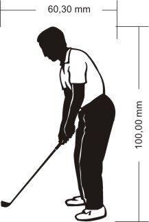 Golfer Aufkleber Golf Sport Sticker Golfspieler