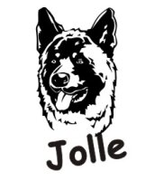 Hundeaufkleber Akita mit dem Namen Ihres Hundes