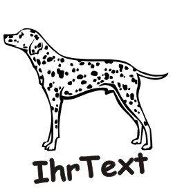 Hundeaufkleber Dalmatiner mit dem Namen Ihres Hundes