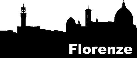 Wandtattoo Skyline Florenze