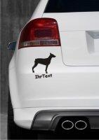 Dobermann Hundeaufkleber mit dem Namen Ihres Hundes