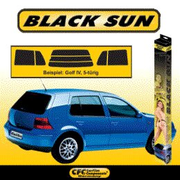 Black Sun Tönungsfolie VW, Golf 2 (191/193) 3-tuerig 08/83-07/87