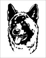 Wandtattoo Akita mit dem Namen Ihres Hundes