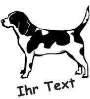 Hundeaufkleber Beagle 02 mit dem Namen Ihres Hundes