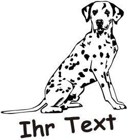 Hundeaufkleber Dalmatiner DR mit dem Namen Ihres Hundes